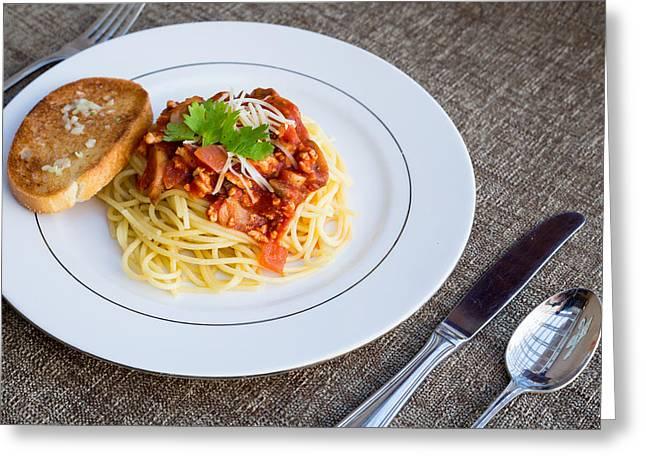 Spaghetti #1 Greeting Card