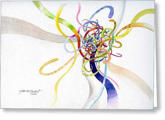 Spaghetti Abstract Greeting Card
