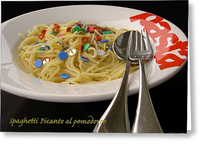 Best Sellers -  - Observer Greeting Cards - Spaghetti Picante Greeting Card by Dirk Laureyssens