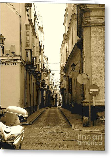 Spain Streets Greeting Card by Carly Athan