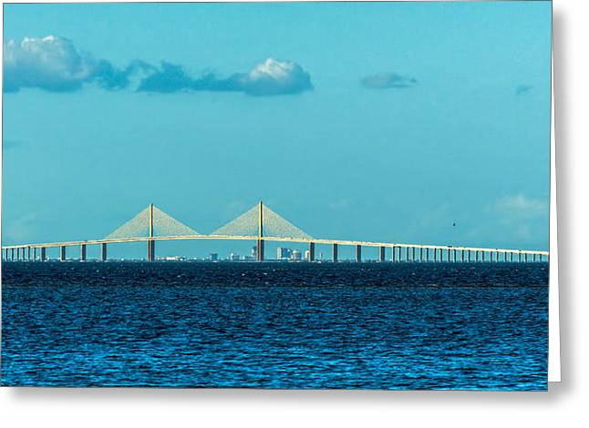 Span Over St. Petersburg Greeting Card by Marvin Spates