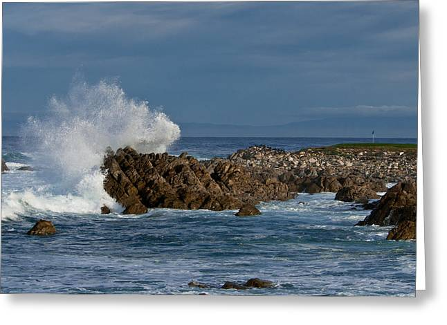 Spanish Bay Golf Ocean Wave Greeting Card