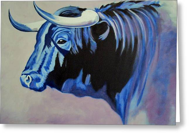 Spanish Bull Greeting Card