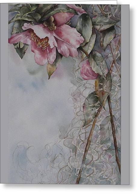 Spanish Camellias Greeting Card