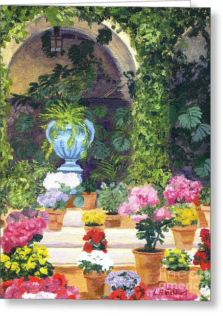 Spanish Courtyard Greeting Card