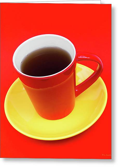 Spanish Cup Of Coffee Greeting Card by Wim Lanclus