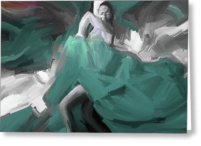 Greeting Card featuring the painting Spanish Dance Art 56yt by Gull G
