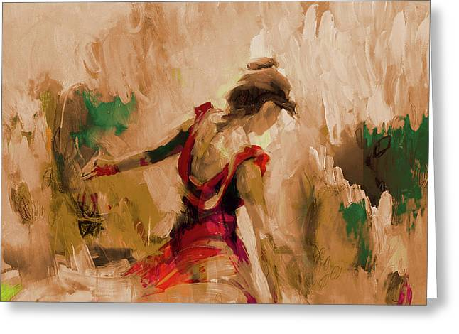 Greeting Card featuring the painting Spanish Dance Culture  by Gull G