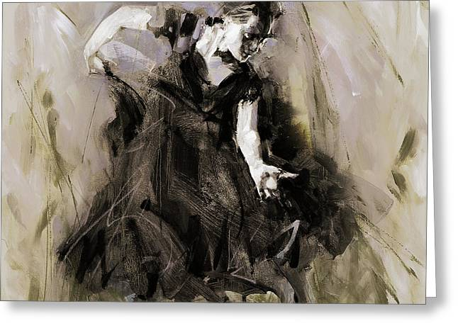 Greeting Card featuring the painting Spanish Dancer 3400i by Gull G
