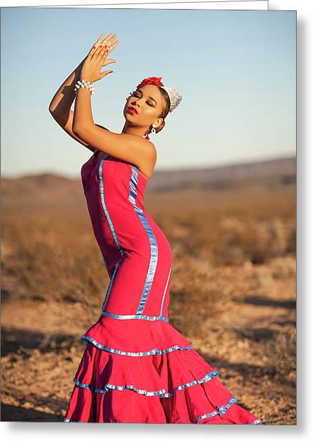 Spanish Dancer Greeting Card