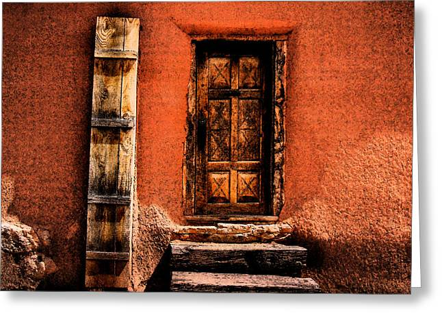 Greeting Card featuring the photograph Spanish Door by Kathleen Stephens