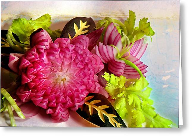 Spanish Flowers Greeting Card
