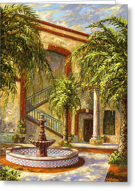 Spanish Fountain Greeting Card