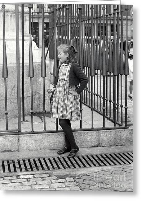 Spanish Girl Greeting Card by Andrea Simon
