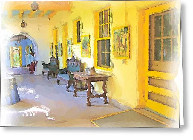 Spanish House Greeting Card by Ralph Liebstein