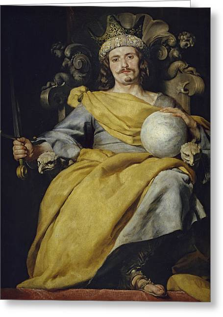 Spanish King Greeting Card by Alonzo Cano