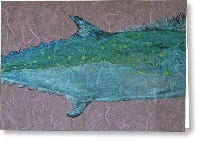 Spanish Mackerel - Jack Mackerel - Scad Greeting Card by Jeffrey Canha