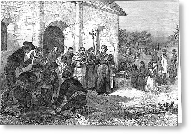 Spanish Mission Of The Alamo Greeting Card by William Ludlow Sheppard