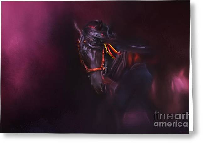 Spanish Passion - Pre Andalusian Stallion Greeting Card by Michelle Wrighton