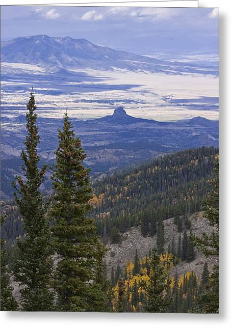 Spanish Peaks Greeting Card by Charles Warren