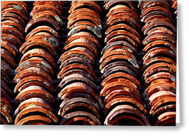 Spanish Roof Tiles Greeting Card