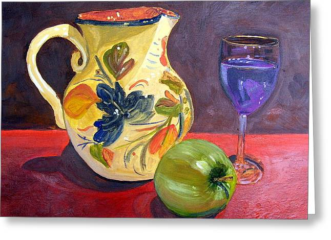 Spanish Sangria Greeting Card by Maria Soto Robbins