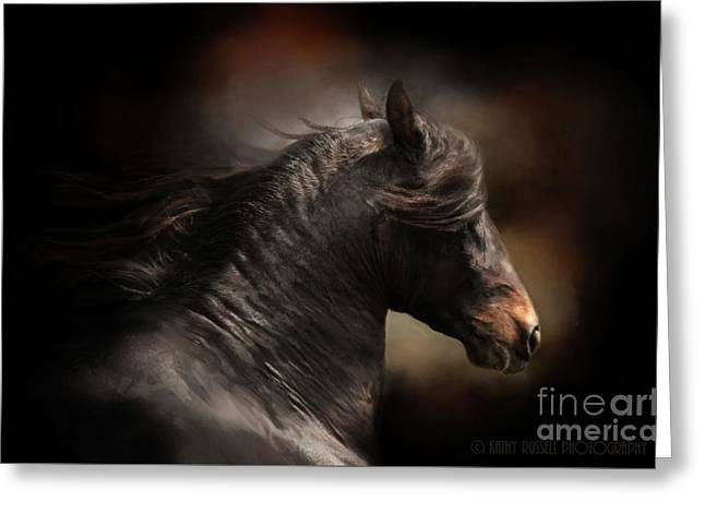 Spanish Stallion Greeting Card by Kathy Russell