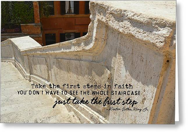 Spanish Steps Quote Greeting Card