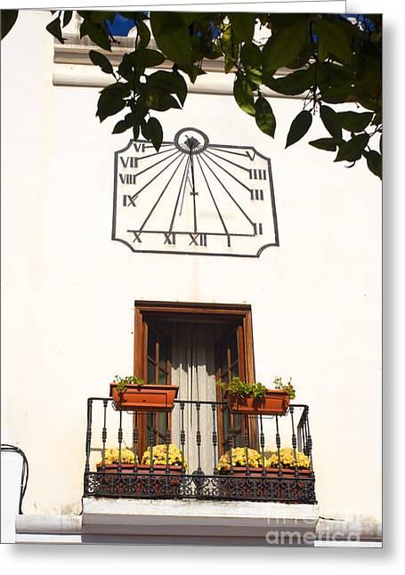 Spanish Sun Time Greeting Card