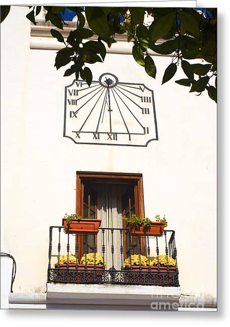 Spanish Sun Time Greeting Card