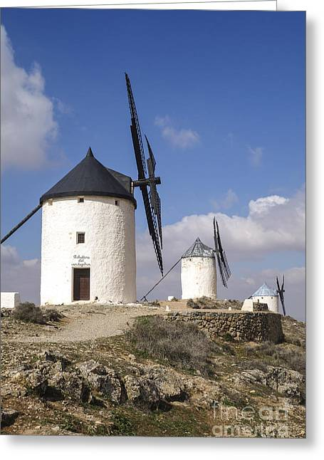 Spanish Windmills In The Province Of Toledo, Greeting Card