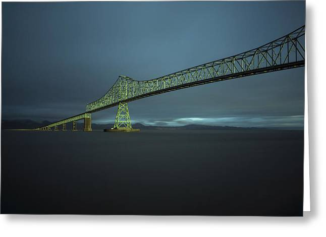 Spanning Columbia Greeting Card by Inge Riis McDonald