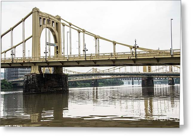 Spanning The Allegheny Greeting Card by David Bearden