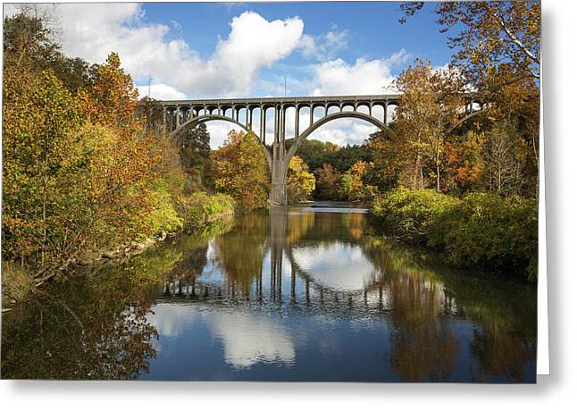 Spanning The Cuyahoga River Greeting Card