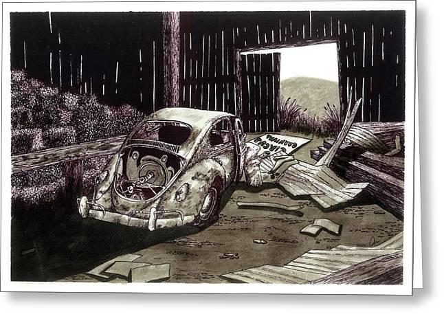 Spare Parts Greeting Card by Jonathan Baldock