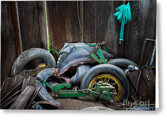 Spare Tires A-plenty Greeting Card by Royce Howland