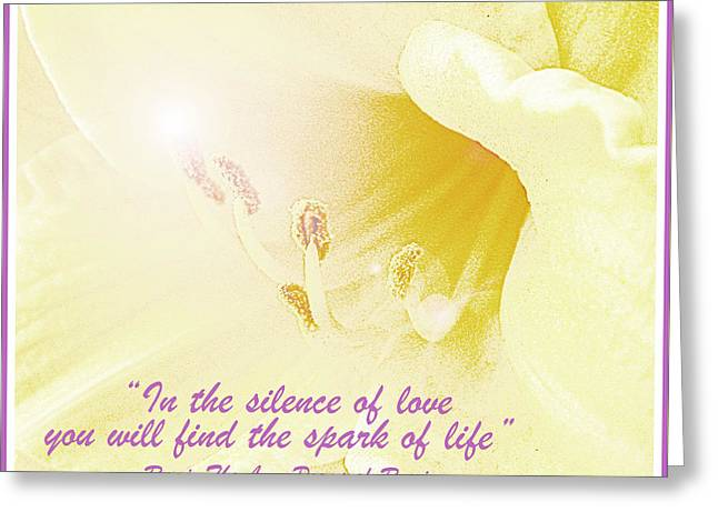 Spark Of Life, Lily Flower Greeting Card