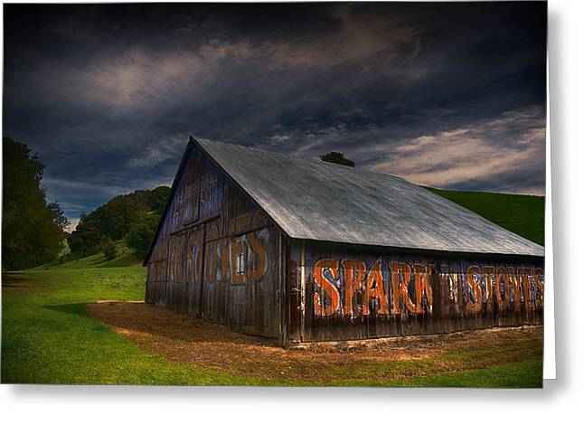 Spark Stoves Barn Greeting Card