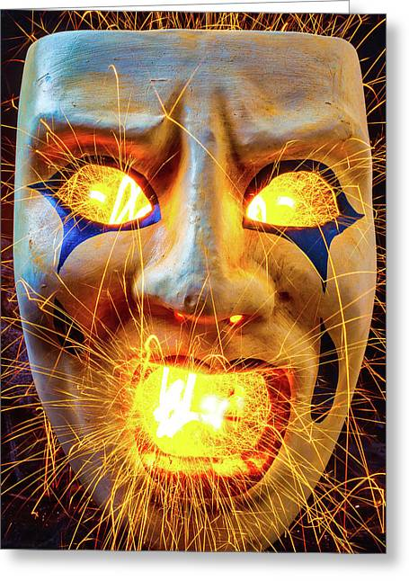 Sparking Mask Greeting Card