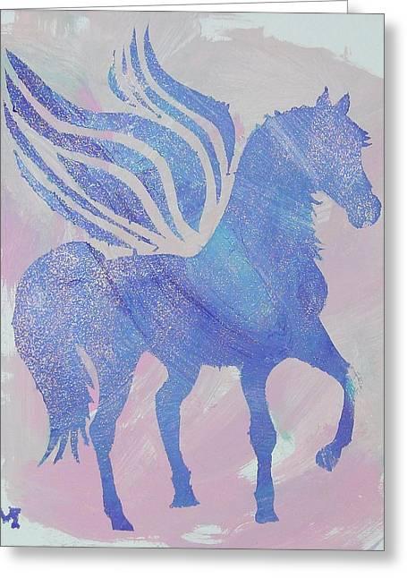 Sparkle Pegasus Greeting Card