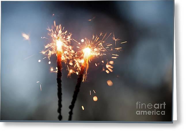 Sparkler Greeting Card by Kati Molin