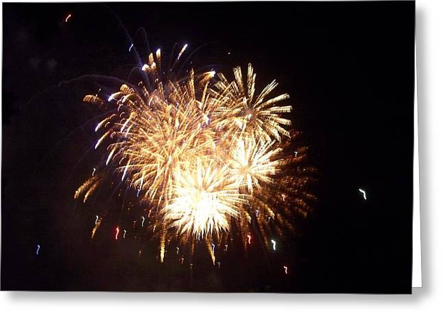 Sparklers In The Sky Greeting Card by Rosanne Bartlett