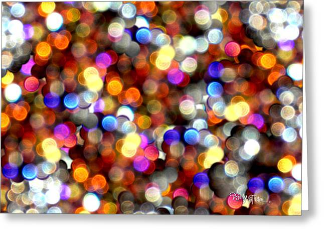 Sparkles #8885_4 Greeting Card by Barbara Tristan