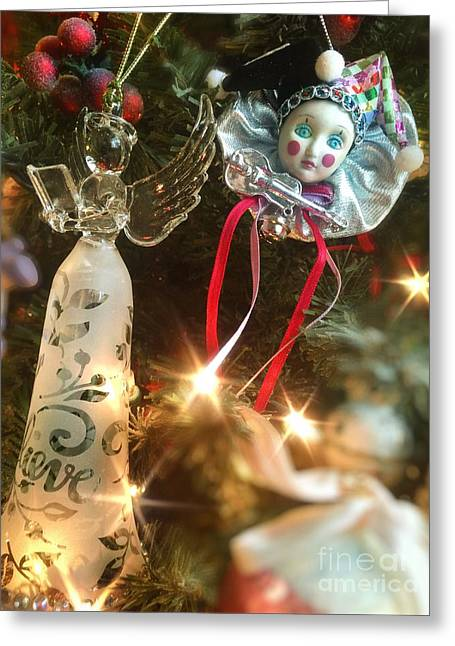 Sparkling Christmas Tree Greeting Card by Amy Cicconi