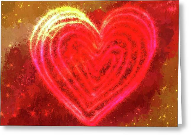 Sparkling Heart Greeting Card by Art Spectrum