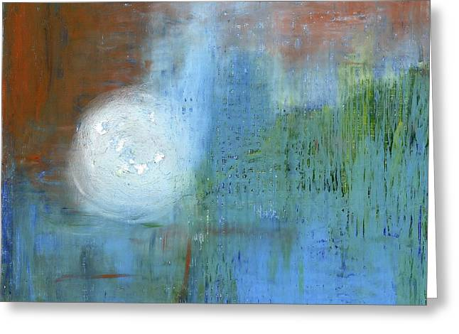 Greeting Card featuring the painting Sparkling Sun-rays by Michal Mitak Mahgerefteh