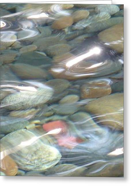 Sparkling Water On Rocky Creek 2 Greeting Card by Carol Groenen