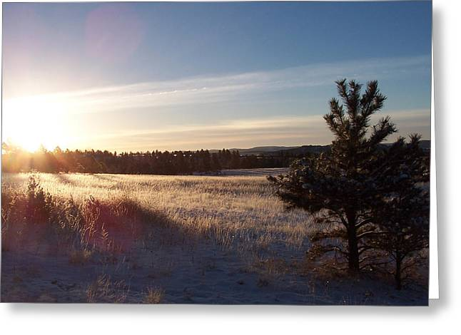 Sparkly Morning Greeting Card