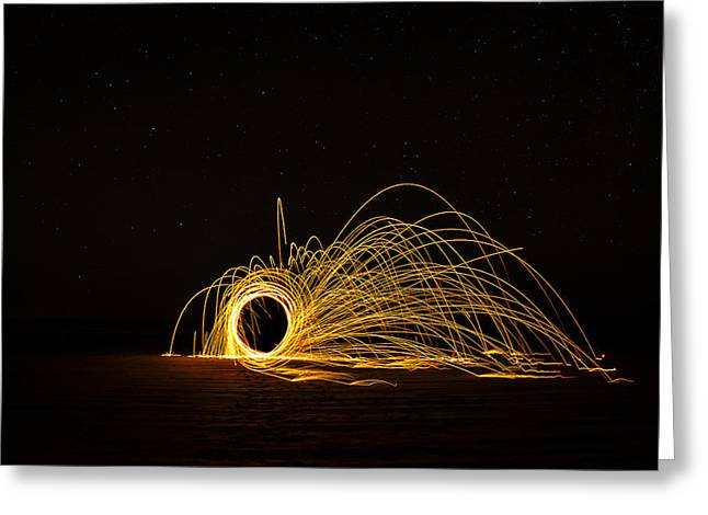 Sparks 2 Greeting Card by Pelo Blanco Photo