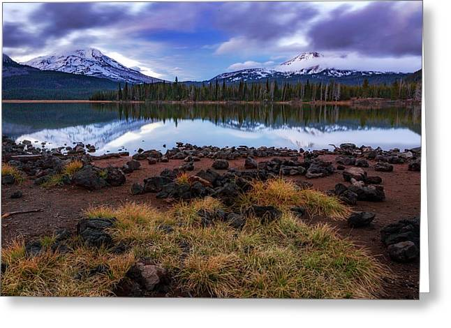 Greeting Card featuring the photograph Sparks Lake by Cat Connor
